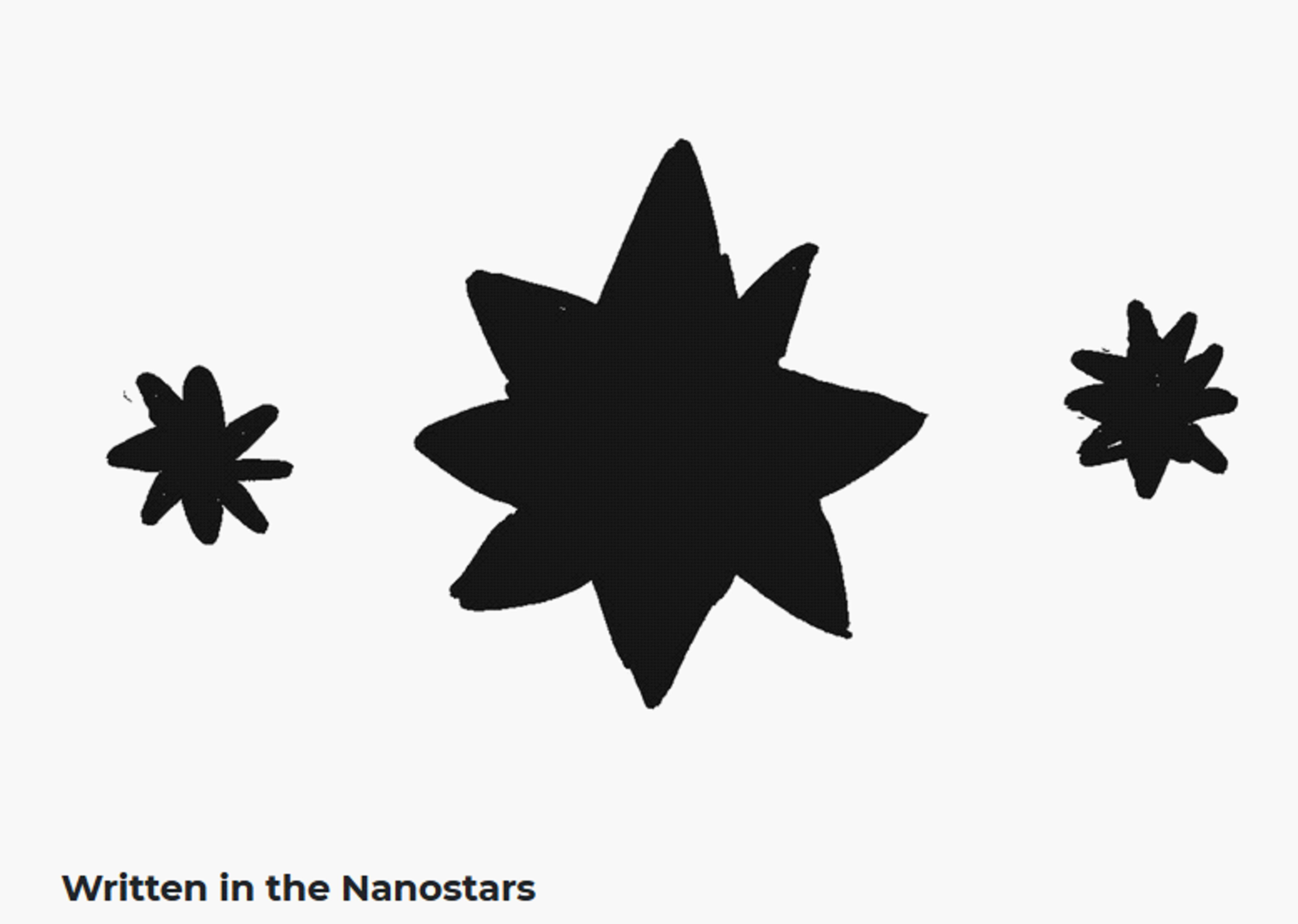 Written in the nanostars