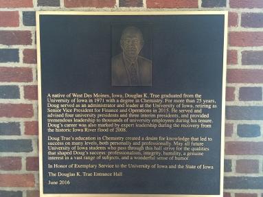 Douglas K. True plaque