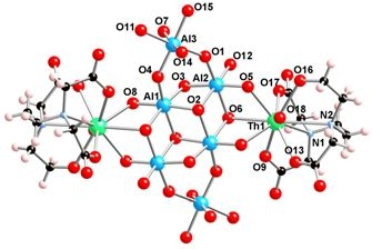 Novel mixed metal (Th-Al) cluster provides insight into adsorption of actinides on mineral surfaces. (Fairley et. al.)