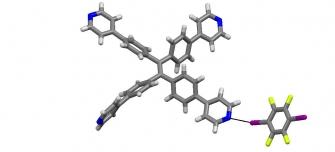 Tetraphenylethylene halogen bonded co-crystal