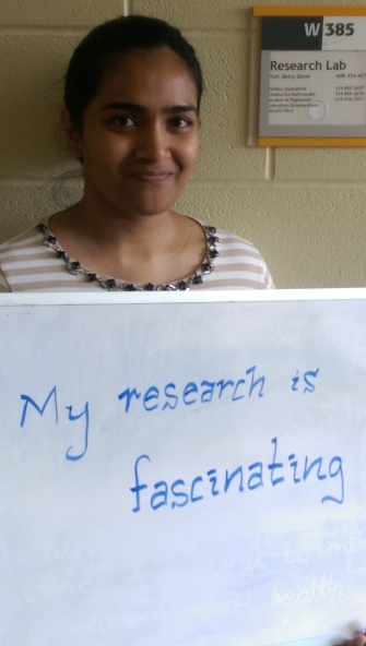 My research is fascinating - Anusha