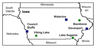 A comparison of bioaerosols in urban and background sites in Iowa.