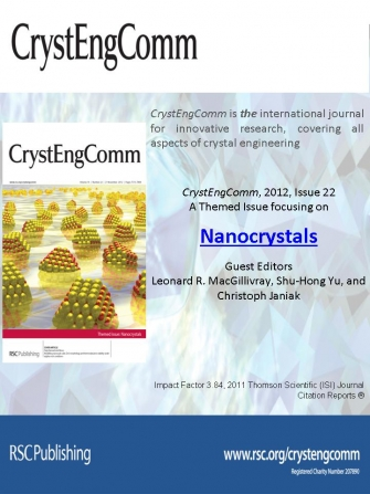 "Co-Editor: CrystEngComm, Issue 22, 2012 on ""Nanocrystals"""