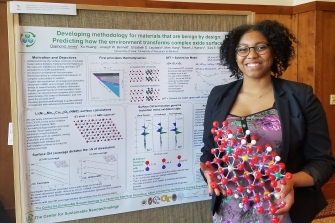 Grad Student Diamond Jones, Center for Sustainable Nanotechnology