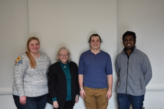 From left to right: Sidney DeBie, Dr. Leddy, Daniel L. Parr IV, and Kasun S.R. Dadallagei (Not pictured: Matt Lovander)