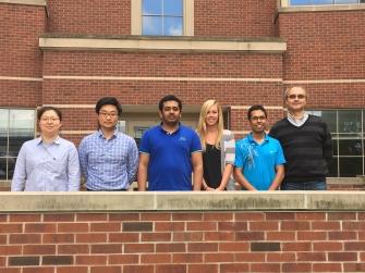 May 2016; from left to right: Yuanyuan Bai, Hansol D. Lee, Thiranjeewa Lansakara, Holly S. Morris, Kamal Ray, Alexei V. Tivanski