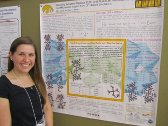 Katie Corum by her poster at MWTCC