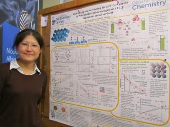 Xu Huang by her poster at MWTCC
