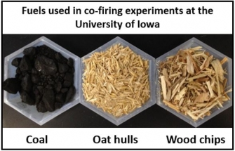 Biomass used in co-firing at the University of Iowa Power Plant.