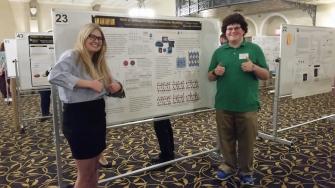 Sidney Spurgeon and Blake Catalano, Undergrad Researchers