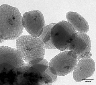 Iron oxide mesoporous silica nanocomposite
