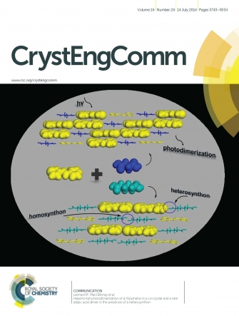 Inside Cover: Head-to-Tail Photodimerization of a Thiophene (CrystEngComm. 2014, 16, 5762)