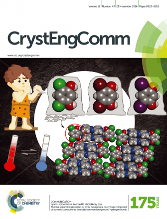 Front Cover: Thermal Expansion Properties of Three Isostructural Co-crystals (CrystEngComm. 2016, 18, 8354)