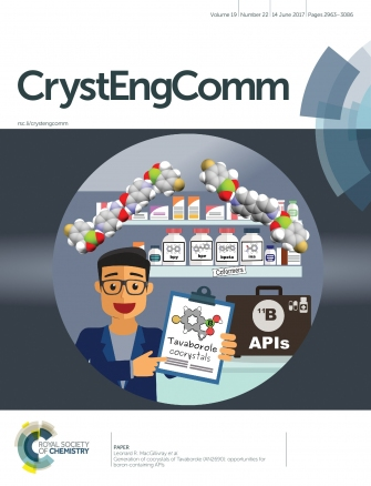 Front Cover: Generation of Cocrystals of Tavaborole: Opportunities for Boron-Containing APIs (CrystEngComm. 2017, 19, 2983)