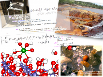 Collage of equations, code, and structures